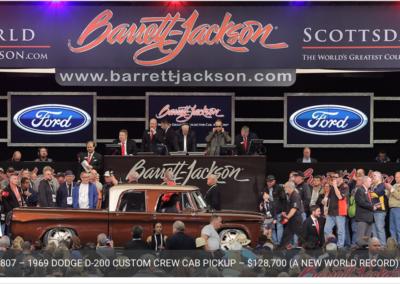 Whiskey Bent Sets World Record at Barrett-Jackson Scottsdale!!